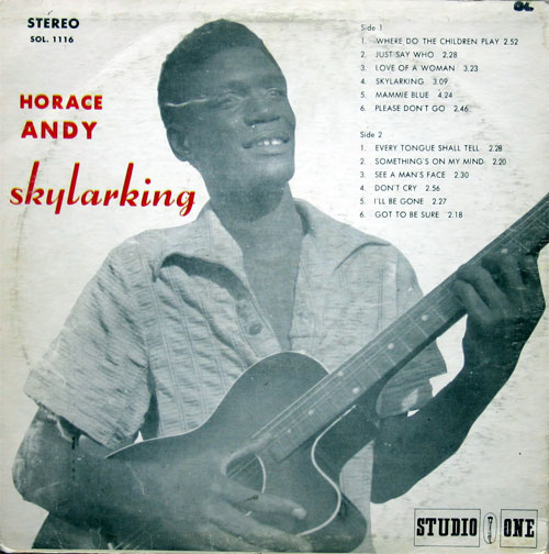 Horace Andy - Skylarking (Studio One 1969) Back View