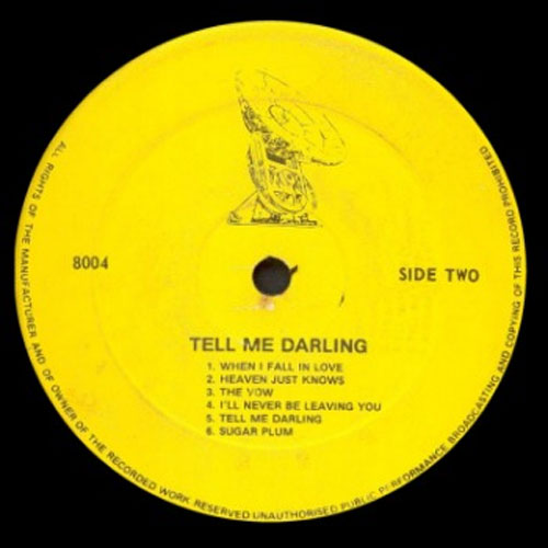 Jackie Edwards - Tell Me Darling record