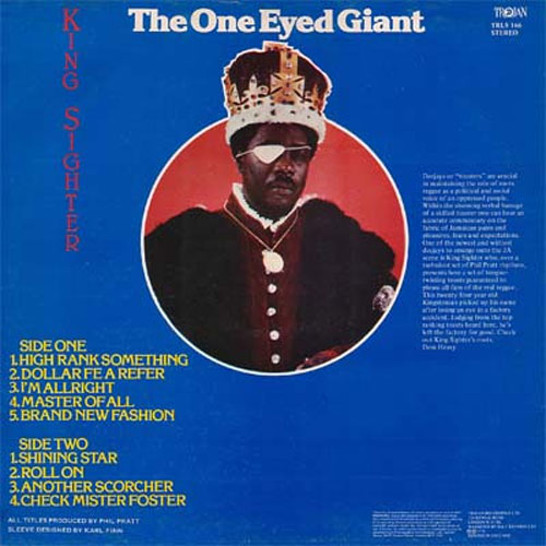 King Sighter - The One Eyed Giant (back)