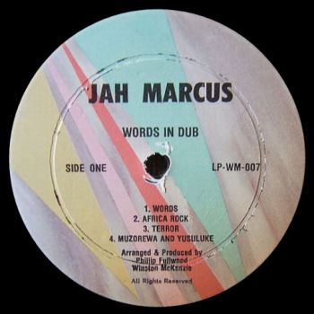 Jah Marcus - Words In Dub record