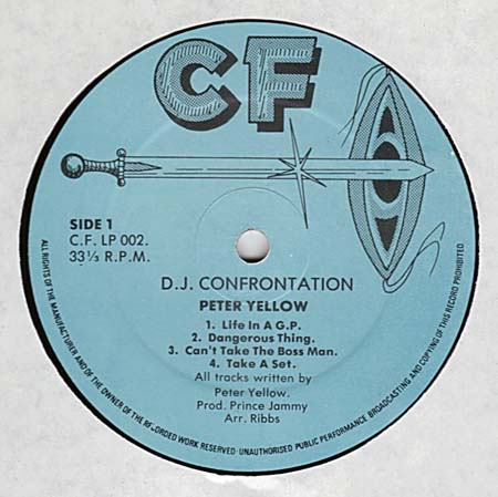 U Brown vs Peter Yellow - DJ Confrontation (1982) (record)