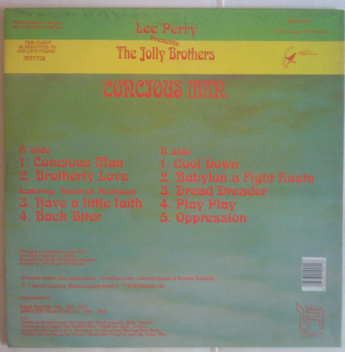The Jolly Brothers - Conscious Man [back]