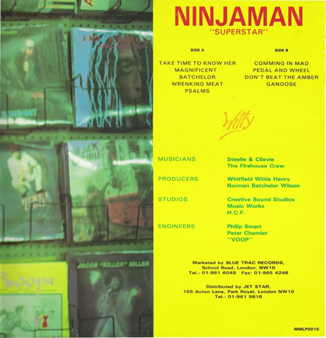 Ninjaman Superstar (back cover)