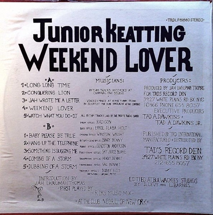 Junior Keatting ‎– Weekend Lover [1980]